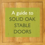 Solid oak stable doors